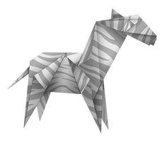 Free illustration: Origami, Zebra, Black And White - Free Image on ...
