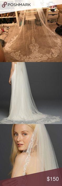 Wedding veil Cathedral wedding veil! Brand new! Originally $300. David's Bridal Other