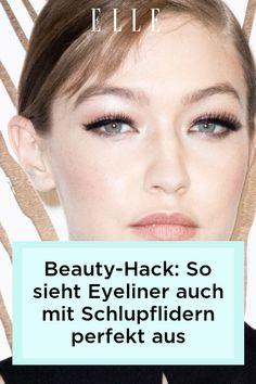 Bei Schlupflidern kann Eyeliner schnell verschmieren. Mit einem einfachen Beauty-Hack passiert das ab jetzt nicht mehr –im Elle-Video!