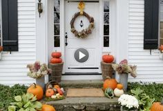 Spice up your front door for fall with these three simple tips: http://www.bhg.com/halloween/outdoor-decorations/pretty-front-entry-decorating-ideas-for-fall/?socsrc=bhgpin092714falldoor3tips&page=5