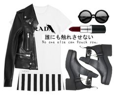 """""The Japanese say you have three faces. The first face, you show to the world. The second face, you show to your close friends, and your family. The third face, you never show anyone. It is the truest reflection of who you are."""" by are-you-with-me ❤ liked on Polyvore featuring Alice + Olivia, MDKN, Yves Saint Laurent and Karen Walker"