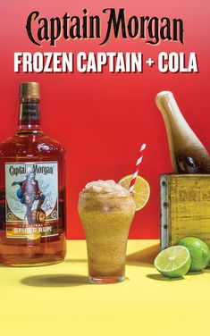 The Captain Morgan Frozen Captain + Cola is an easy-to-make frosty cocktail that'll help you keep your cool this summer that's perfect for your summer  weekend BBQ. Here's how to make one: Combine 4 oz. Captain Morgan Original Spiced Rum, 16 oz. cola, and 1 oz. fresh lime juice in a blender and blend until smooth. Pour, garnish with lime wheels and ice, and enjoy.
