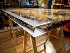 Descarregue o catálogo e solicite preços de Briccola e resina   mesa de jantar By antico trentino, mesa de jantar retangular de madeira maciça, Coleção lebrìc design - madeira e resina