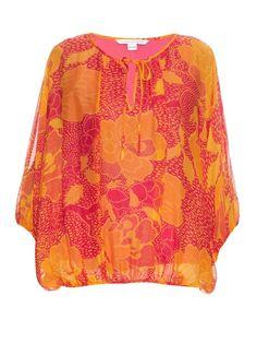 DIANE VON FURSTENBERG Emelia Blouse. #dianevonfurstenberg #cloth #blouse