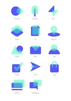 Icon set by Noah Raskin Flat Design Icons, App Icon Design, Web Layout, Layout Design, Web Design Mobile, Branding Design, Logo Design, Simple Icon, Ios Icon