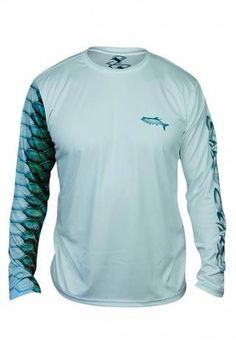 8b34a2473880be Mens Camo Fishing Sun Shirt  bassfishing Fish Scales