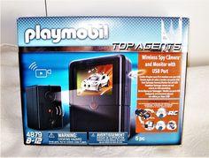 Playmobil Top Agents Wireless Spy Camera & Monitor with USB Port #4879 NEW 8yrs+ #PLAYMOBIL