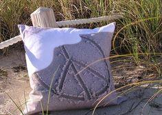 Peace.. Beach throw pillow.