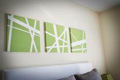 Canvas + Painters Tape + Paint = cheap art