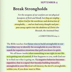 Break strongholds