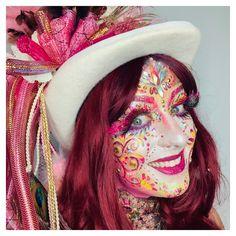 Ingrid Breugelmans Sôkkertantes Make-up, . - Famous Last Words Adult Face Painting, Dead Can Dance, Ingrid, Up Costumes, World Music, Trends, Festival Outfits, Makeup Art, Mardi Gras