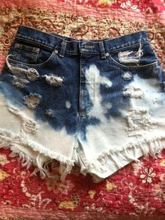 Destroyed High Waisted Shorts by haleyhildebrand on Etsy, $35.00