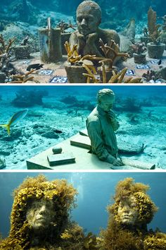 British sculptor Jason de Caires Taylor took his art below sea-level, creating the world's first underwater gallery in the warm Caribbean waters off Granada