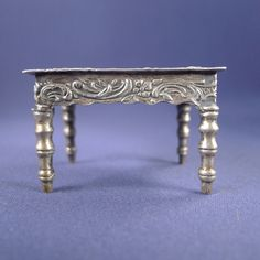 Antique Miniature Sterling Silver Table Doll House | eBay
