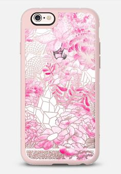 PINK Watercolor Bouquet - iPhone 6s case in Pink Gray & Clear by @gracemichiko | @casetify