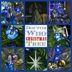 Doctor Who Christmas Tree with Weeping Angel Topper