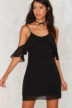 Sleeve to Chance Cold Shoulder Dress - LBD