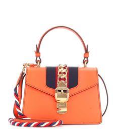 b85f1a2512b8 Gucci Sylvie Mini leather crossbody bag Burberry Handbags, Prada Handbags,  Leather Handbags, Gucci