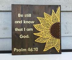 MADE TO ORDER Custom Quote Sunflower String Art by RhapsodyCrafts