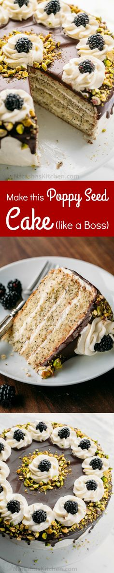 This poppy seed cake is fluffy and moist with a hint of rum and it's not overly sweet. Follow step-by-step photos to make this poppy seed cake like a Boss!