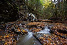 Rockfall on a Fall Creek - Ithaca, NY🌍❤️