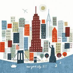 Absolutely love these buildings.  Wish I could create this like. - Michael Mullan Illustration