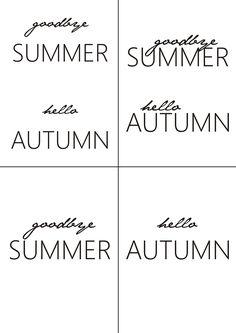 Hello autumn! Free printable   DIY falling leaves