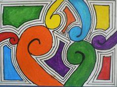 School Art Projects, Art School, School Ideas, Maori Art, Coloring For Kids, White Patterns, Pattern Art, Art Lessons, Art For Kids