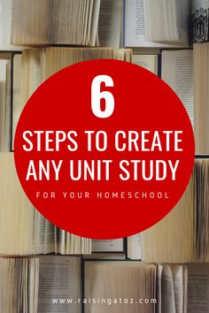 Follow these 6 steps to create a unit study for your homeschool on any topic you and your kids can dream of. Hands On Learning, Fun Learning, Five In A Row, How To Start Homeschooling, Learning Styles, Toddler Books, Homeschool Curriculum, Teaching Tips, Unit Studies