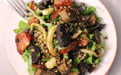 <p>Even if you think lentils are boring, this is the dish for you! Hearty lentils and veggie sausage, roasted beets, and peppery arugula makes this a delicious, unique, and easy dinner.</p>