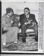 1961 Press Photo UAR Gamal Abdel Nasser & King Mohammed V of Morocco