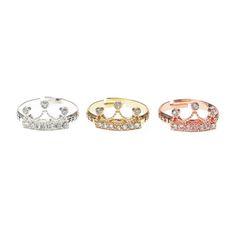 3 Pack Best Friend Crown Rings