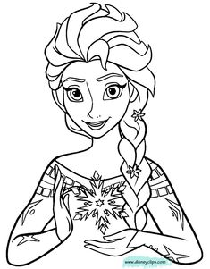 Image result for jack frost and elsa coloring pages