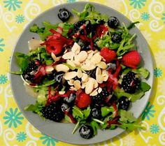 Mountain Berry Salad, with a honey lemon vinaigrette