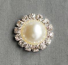 20 strass bouton rond Diamante Ivoire perle cristal pour cheveux fleur Clip mariage Invitation Scrapbooking serviette anneau BT091
