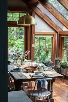 Esszimmer moderner landhausstil  esszimmer landhausstil kerzen pflanzen offene regale | Esszimmer ...