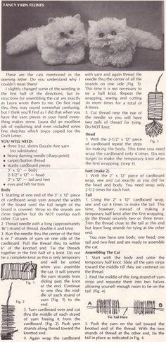 Make Yarn Kitties just like the Vintage toys I had as a kiddo!!! Pom Pom-ish style