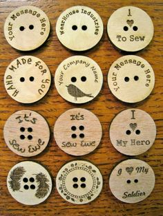 Custom Laser Engraved Buttons by WearhouseIndustries on Etsy, $10.00