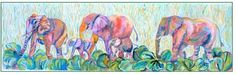 Elephants in Elephant Grass and Elephant Ears by Julie Dawson, http://www.amazon.com/dp/B0077DBLCE/ref=cm_sw_r_pi_dp_EkBvsb1P63Z6P  Pricey but two babies are shown and colors are great