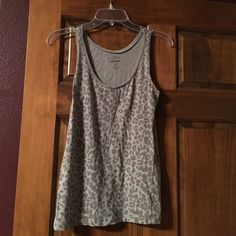 Old navy Gray leopard printed tank Gray with leopard print tank top from Old Navy Old Navy Tops Tank Tops