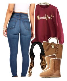"""Happy Thanksgiving ❤️"" by daisym0nste ❤ liked on Polyvore featuring Michael Kors, UGG Australia, women's clothing, women, female, woman, misses and juniors"