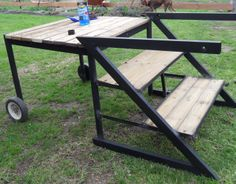 Horse mounting block.. portable. easy mount and dismount for shorties like me