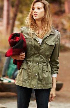 Cute, army jacket.