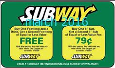 Subway Coupons Ends of Coupon Promo Codes MAY 2020 ! Is a of it's but It private Subway operator selling over 2019 in is restaurant, . Cigarette Coupons Free Printable, Free Printable Coupons, Free Printables, Dollar General Couponing, Coupons For Boyfriend, Coupon Stockpile, Love Coupons, Grocery Coupons, Extreme Couponing