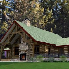 Our Wenatchee floor plan has been a popular choice for years. The simplicity of its layout makes it a true classic log home design. Rustic Cottage, Rustic Farmhouse, Small Rustic House, Rustic Cabins, Rustic Houses Exterior, Rustic Home Exteriors, Rustic Home Plans, Log Homes Exterior, Barn Plans