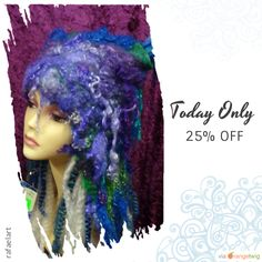Today Only! 25% OFF this item.  Follow us on Pinterest to be the first to see our exciting Daily Deals. Today's Product: Felted hat, Cute, winter, hat, hand made, in USA, Organic, Fairy hat, wearable art, costume art, fantasy hat, whimsical hat, gift Buy now: https://www.etsy.com/listing/496230578?utm_source=Pinterest&utm_medium=Orangetwig_Marketing&utm_campaign=Spring%20Sales   #etsy #etsyseller #etsyshop #etsylove #etsyfinds #etsygifts #musthave #loveit #instacool #shop #shopping…