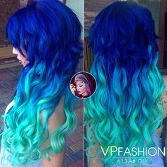 Colorful Hair Extensions at blog.vpfashion.com blue green wavy hair colors  blue green colorful hair colors blue green mermaid ombre loose curls