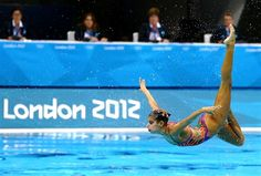 Splish splash! Synchronized swimmers rule the pool | Egypt competes in the Women's Teams Synchronised Swimming Free Routine final, August 10, 2012 in London.  (Photo: Al Bello / Getty Images) #NBCOlympics