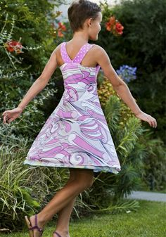 Happy Halter reversible dress.  Girl party dresses that are both stylish and chic. Formal enough for a special occasion, yet comfortable and sturdy enough for every day wear!  #girl-party-dresses #girl-party-dress #special-occasion-dresses-for-girls