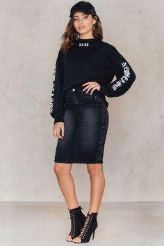 Vicky Cross Skirt Antracit